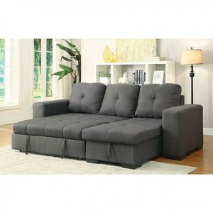 Grey sofa bed couch sectional/No Credit Needed No Credit Check Apply Today for Sale in Downey, CA