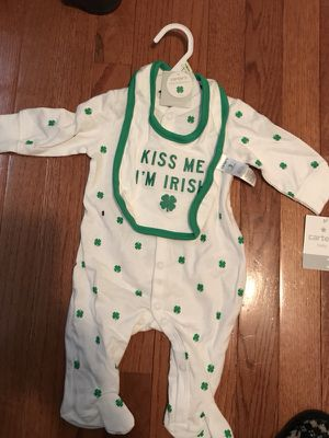 """""""Kiss Me I'm Irish"""" Outfit Size 3 Months for Sale in Ashburn, VA"""