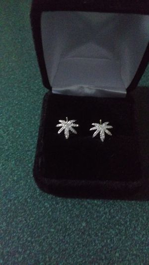 white gold diamond earrings for Sale in Austin, TX