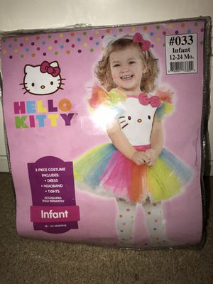 Hello Kitty Tutu Halloween Costume size 12-24M for Sale in Georgetown, TX