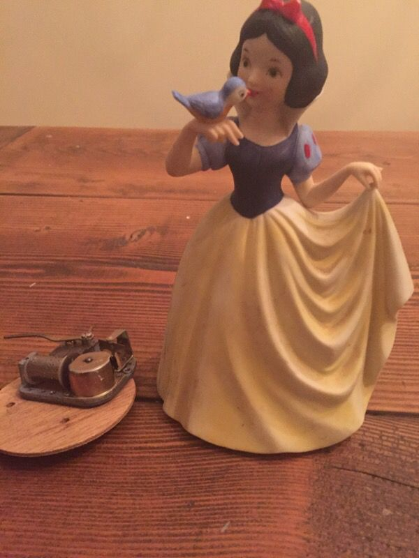 Musical Snow White porcelain bought at Disney in the 80's