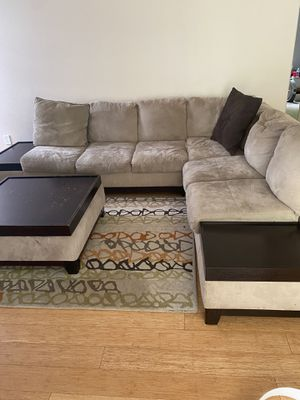 Sectional couch with chair for Sale in Grant-Valkaria, FL