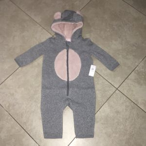 Old Navy Baby Girl's Bear-Critter Hooded One Piece Suit, Size 6-12 Months for Sale in San Diego, CA