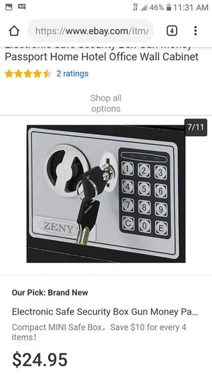 Electronic Safe With Key for Sale in Pittsburgh, PA