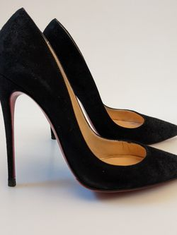 Pre-owned Christian Louboutin Suede So Kate 120 Pumps Size US5 EUR35 for Sale in Wyckoff,  NJ