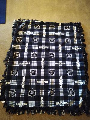 (NEW) Handmade Raider blanket $20 for Sale in Dinuba, CA