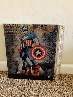 Captain America Canvas Wall Decor for Sale in Bakersfield, CA