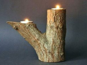 Log tealight candle holder for Sale in Jurupa Valley, CA