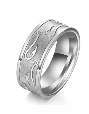 Brand New Men's Fishing Hook Wedding/Engagement Ring Sz 9 for Sale in San Antonio, TX