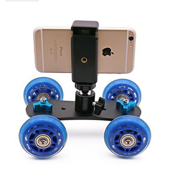 Portable Desktop Camera Dolly car Tabletop Video Slider Rail Track with Phone Mount and Mini Ball Head for Video blog Filmmaking