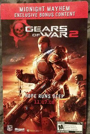 Gears of War 2 Midnight Mayhem Exclusive Bonus Content Card 11/07/08 for Sale for sale  Elk Grove, CA