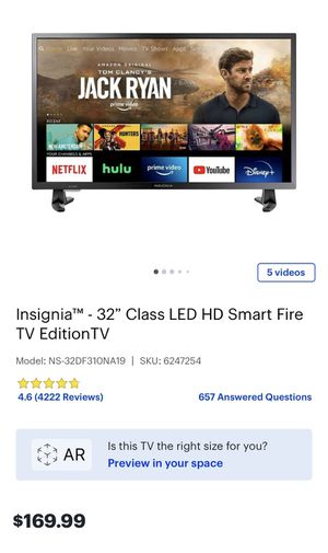 """Insignia 32"""" Fire TV with Alexa voice remote for Sale in Upland, CA"""