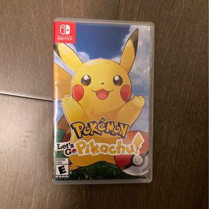 Pokémon Let's go Pikachu Nintendo Switch for Sale in Snohomish, WA