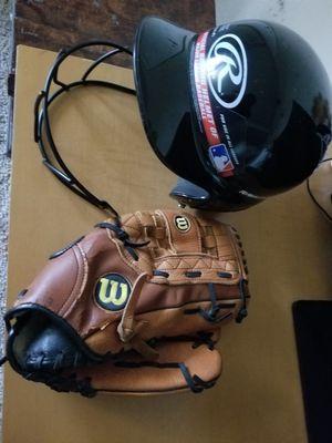 Baseball glove and helmet for Sale in Nashville, TN