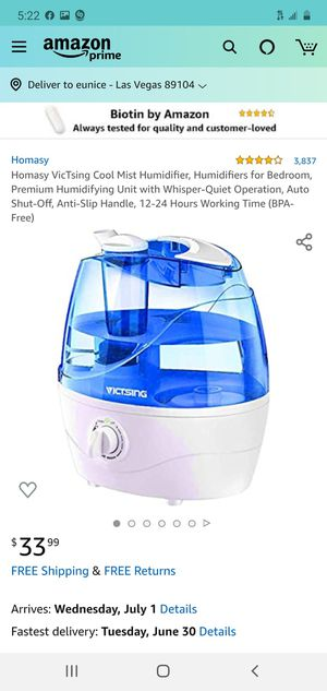 Ultrasonic humidifier for Sale in Las Vegas, NV