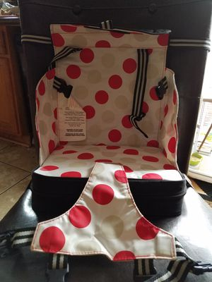 Go anywhere booster travel seat red and black for Sale in Portland, OR