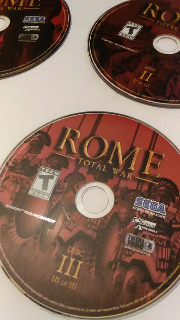 ROME SEGA PC GAMES DISC I,II,III for Sale in Wilmington, DE - OfferUp
