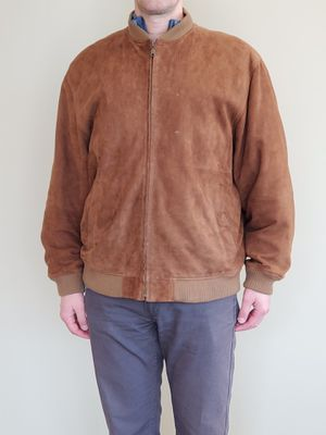 MEN's SUEDE LEATHER JACKET (size LARGE) - firm price for Sale in Alexandria, VA