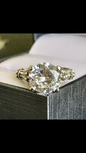 Silver sapphire wedding engagement ring women's jewelry accessoryl size 6,7,8 available for Sale in Silver Spring, MD