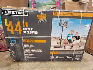 "Lifetime 44"" Impact Adjustable Portable Basketball Hoop $75 FIRM for Sale in Redlands, CA"