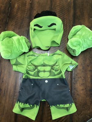 Build A Bear Hulk costume for stuffed animal toy for Sale in San Antonio, TX