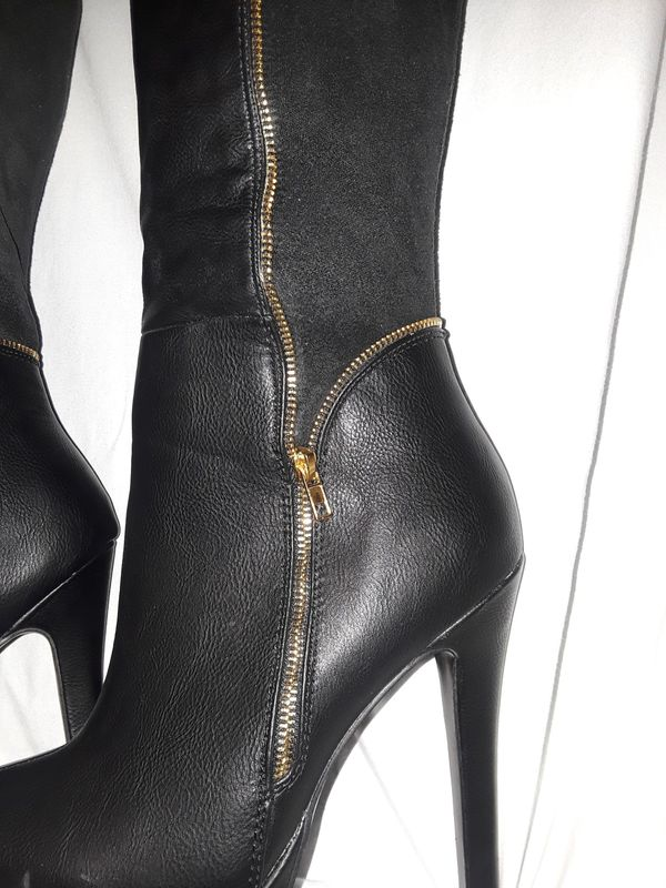 Women's High Thigh Black Boots