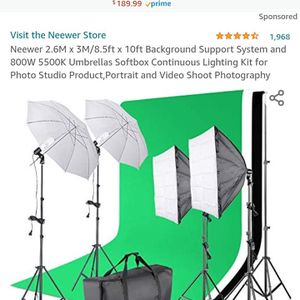 Neewer Photo & Video Lighting Shooting Lit ( 1 In Stock Nw Front Display for Sale in Phoenix, AZ
