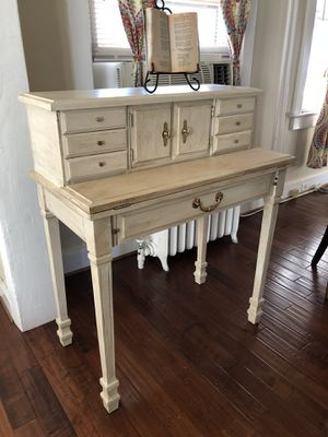 My new collection of furniture farmhouse antique white desk sale $425 for Sale in Morrisville, PA