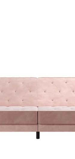 Beautiful Vintage Style Pink Velvet Split Back Futon for Sale in Arlington,  TX