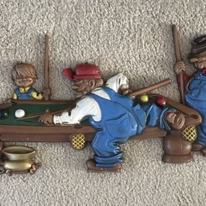 Pool Table With Players Wall Decoration for Sale in Burtonsville, MD