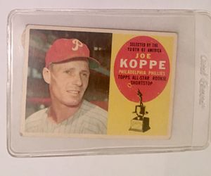 1960 Topps 319 Joe koppe trading card for Sale in Savage, MD