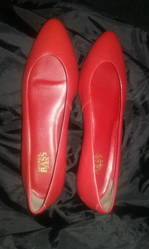 G.H. Bass and CO Red Leather Flats 9.5 for Sale in Interlochen, MI