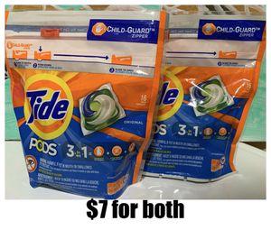 Tide PODS Liquid Laundry Detergent Pacs, Original, 16 count for Sale in Yorba Linda, CA