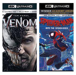 Don't Mess with Us Bundle - Venom & Spider-man: Spider-Verse - Digital Copy Code - VUDU 4K Movie for Sale in Jurupa Valley, CA