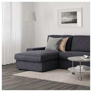 Kivik Sectional Couch with Chaise Lounge Hilliard Anthracite Dark Gray for Sale in Seattle, WA