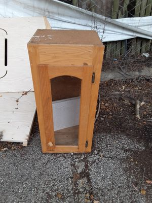 Wood Cabinet for Sale in Niles, IL
