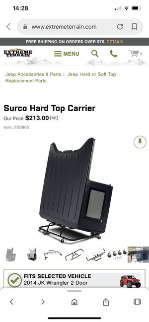 SURCO JEEP WRANGLER HARD TOP ROOF HOLDER for Sale in Chino Hills, CA