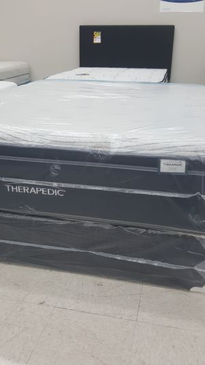 Mattress Clearance Sale *Queen Therapedic Pillow Top Mattress and Free Box Spring *Floor Model Sale* for Sale in New Port Richey, FL