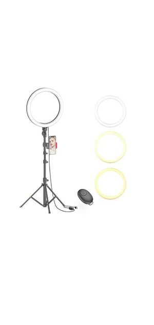 "10"" Selfie Ring Light with Tripod Stand & Phone Holder for Live Stream/Makeup for Sale in New Haven, CT"