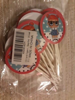 LOL surprise 24 count cupcake toppers for Sale in La Puente, CA