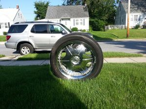 Set of Rims and tires in excellent condition for Sale in Mount Airy, MD