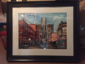 Detroit Painting by Josh Moulton for Sale in Grosse Pointe Farms, MI
