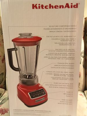 KITCHENAID BLENDER KSB1575, $75 UNUSED- BOX UNOPENED, RETAIL$129, 5 YR FULL REPLACEMENT WARRANTY for Sale in Brookline, MA