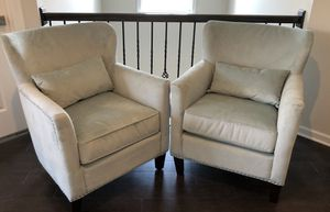 Studded Accent Chairs - Set of 2 for Sale in UPPR MARLBORO, MD