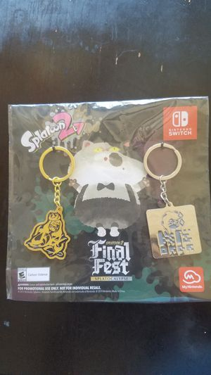 Splatoon 2 Final Fest Comic Con My Nintendo exclusive keychains for Sale in Chula Vista, CA
