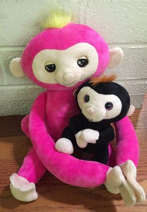 Fingerlings Monkey and Baby Pink and Black Plush Toys talking plushie stuffed animal Stuffie for Sale in Las Vegas, NV