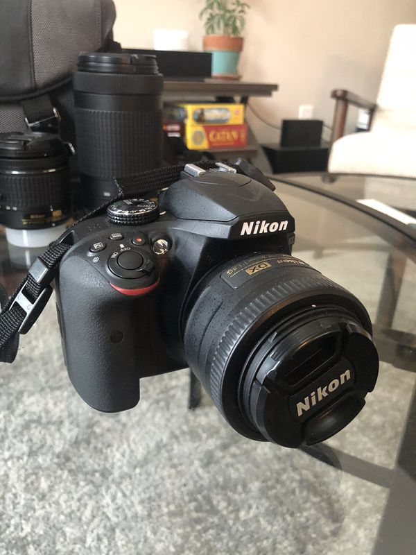 Nikon D3400, Lenses, Bag, and Camera Backpack