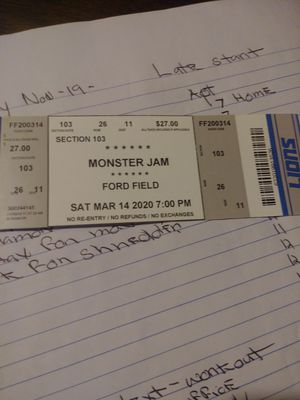 Monster jam. Seats for Sale in Redford Charter Township, MI
