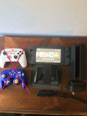 Nintendo Switch w/ All Accessories, 5 Games, 64GB SD Card, and a Protective Cover/Stand (Controllers Sold) for Sale in Los Angeles, CA