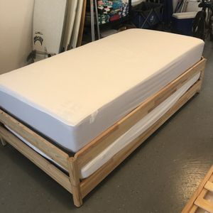 Ikea UTÅKER Stackable Twin Beds With Mattresses for Sale in Long Beach, NY